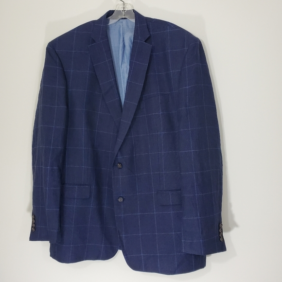 Lauren Ralph Lauren Blue Linen Jacket, Size 48L